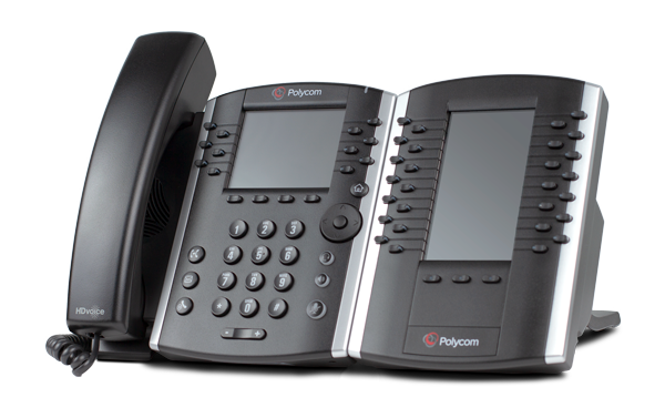 Polycom 411 with sidecar